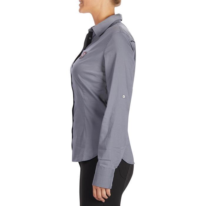 Chemise manches longues équitation femme Lady 700 grise - 1255108