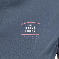50 Mesh Women's Horse Riding Short-Sleeved Polo Shirt - Grey/Navy