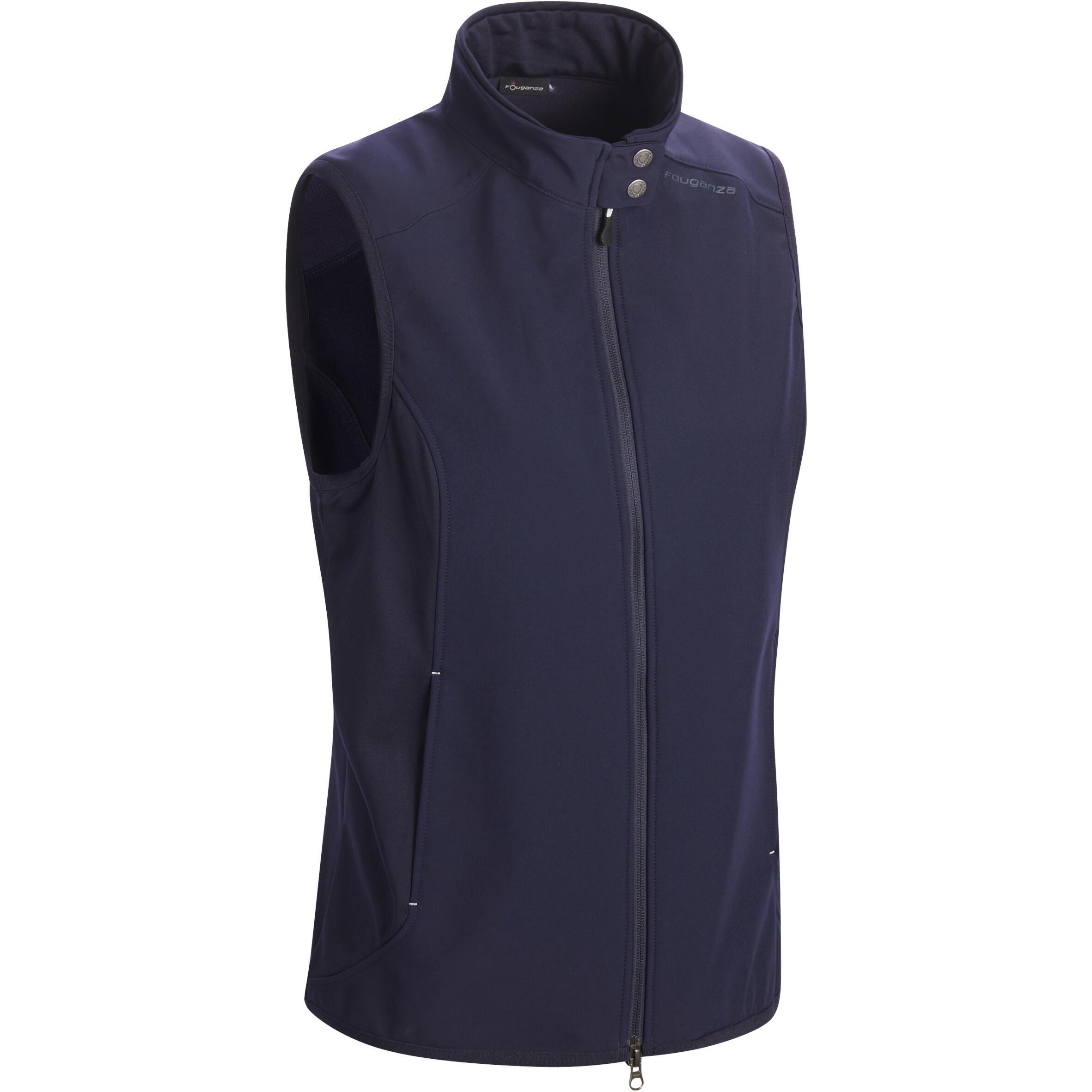 Fouganza Bodywarmer dames ruitersport GL500 marineblauw
