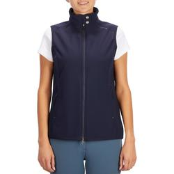 Bodywarmer 500 dames ruitersport marineblauw