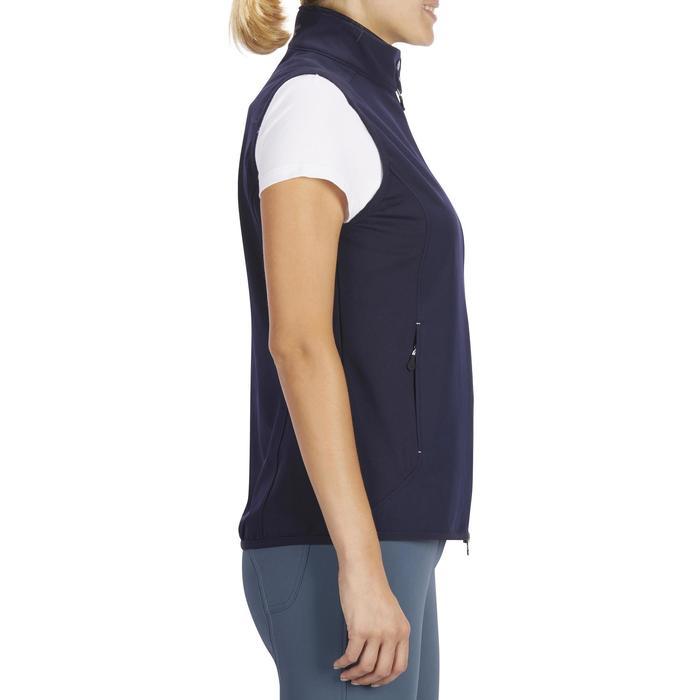 女款馬術無袖背心500-海軍藍
