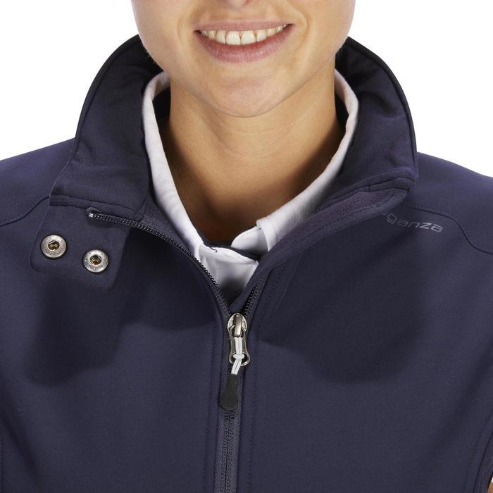 Gilet sans manche équitation femme 500 marine