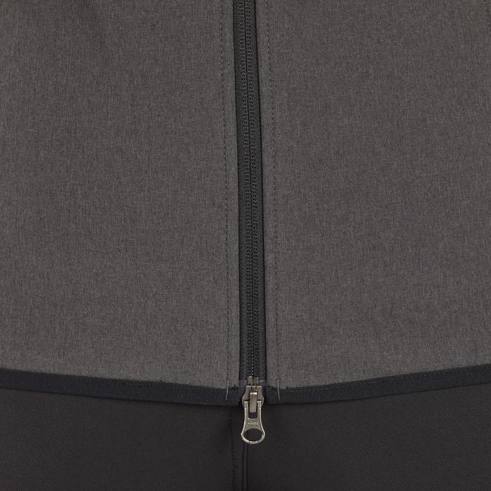 Bodywarmer ruitersport dames GL500 zwart en gemêleerd grijs