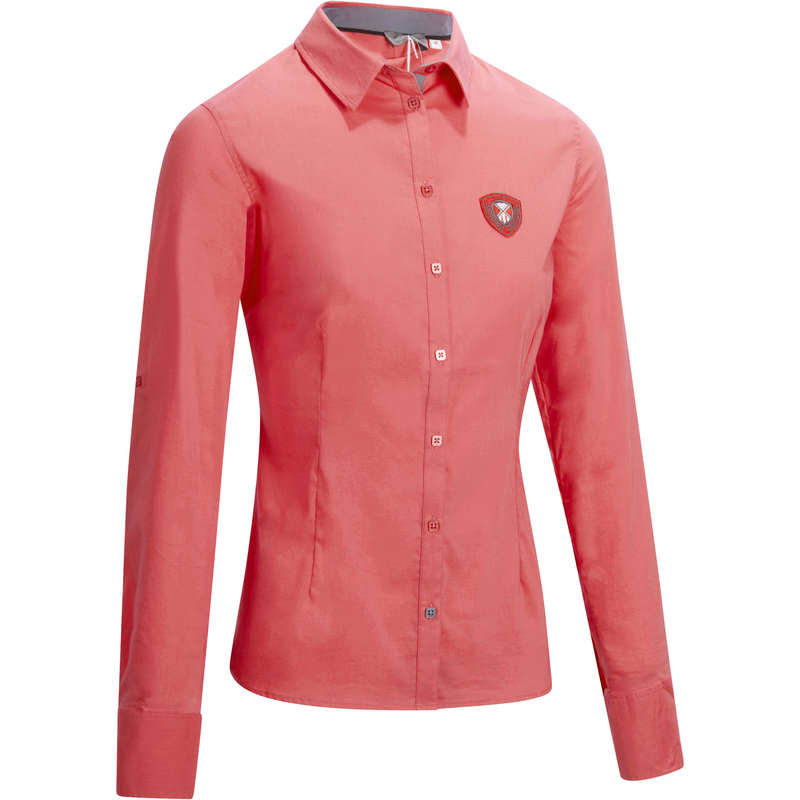 WOMAN RIDINGWEAR Horse Riding - Lady 580 Shirt Pink OKKSO - Horse Riding