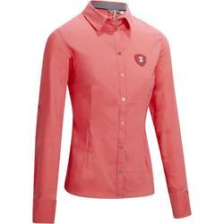 Reitbluse Lady 700 Langarm Damen rosa