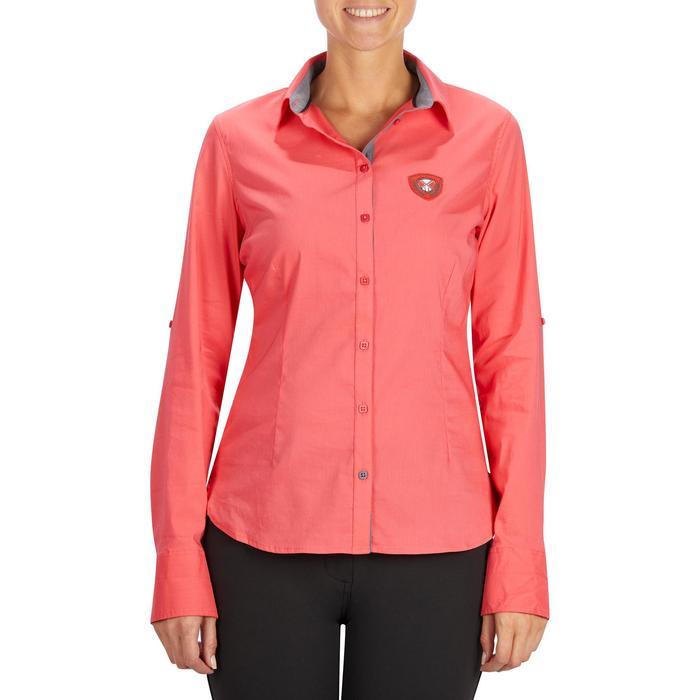 Chemise manches longues équitation femme Lady 700 rose - 1255149