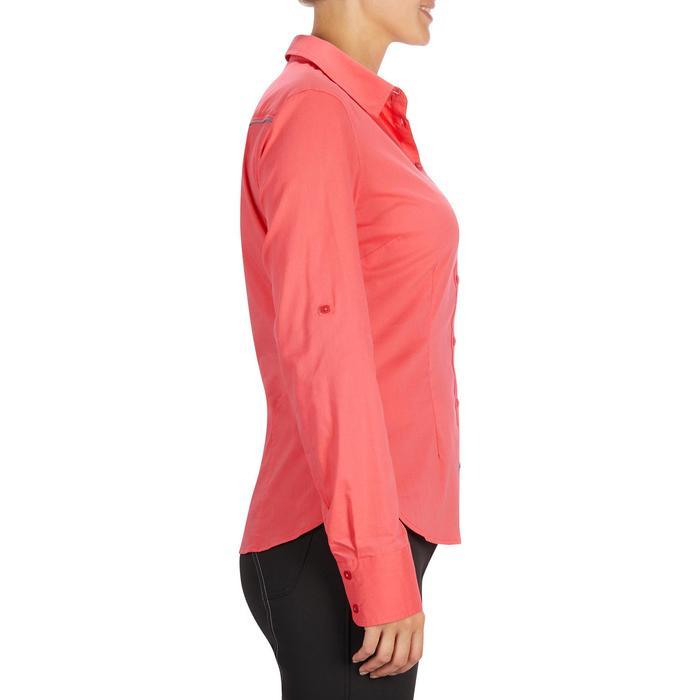Chemise manches longues équitation femme Lady 700 rose - 1255151