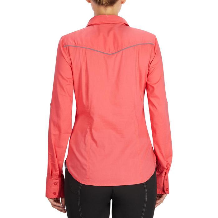 Chemise manches longues équitation femme Lady 700 rose - 1255152
