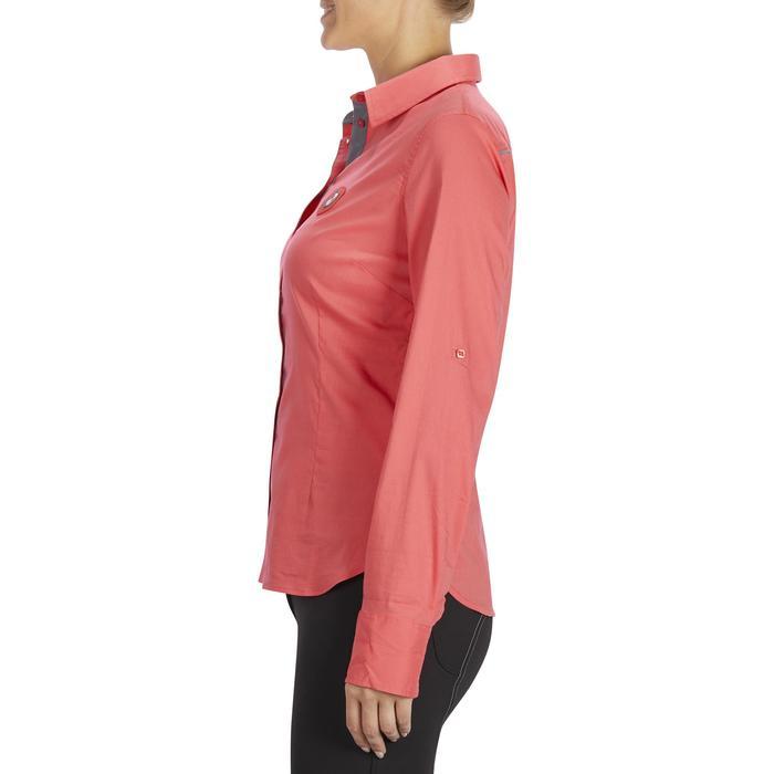 Chemise manches longues équitation femme Lady 700 rose - 1255153