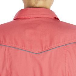 Camisa Equitación OKKSO 580 Mujer Rosa Manga Larga