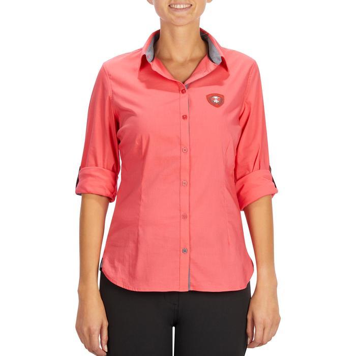 Chemise manches longues équitation femme Lady 700 rose - 1255157