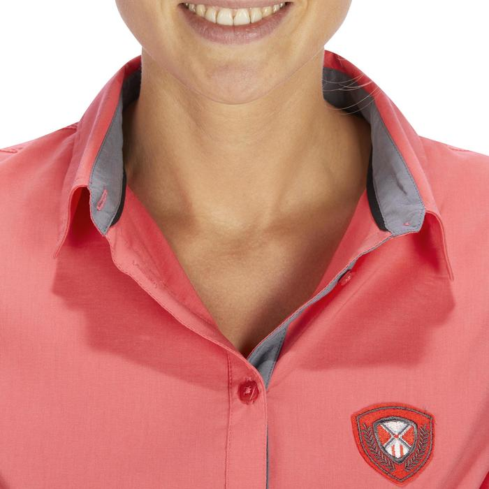 Chemise manches longues équitation femme Lady 700 rose - 1255158