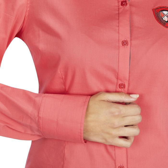 Chemise manches longues équitation femme Lady 700 rose - 1255160