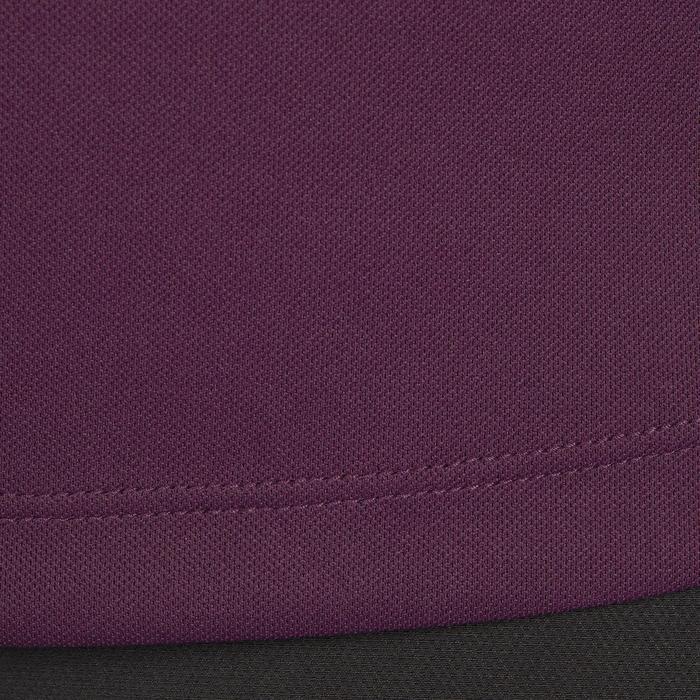 Polo manches courtes équitation femme PL500 MESH bleu marine et - 1255171