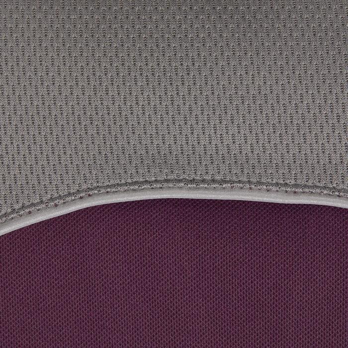 Polo manches courtes équitation femme PL500 MESH bleu marine et - 1255173