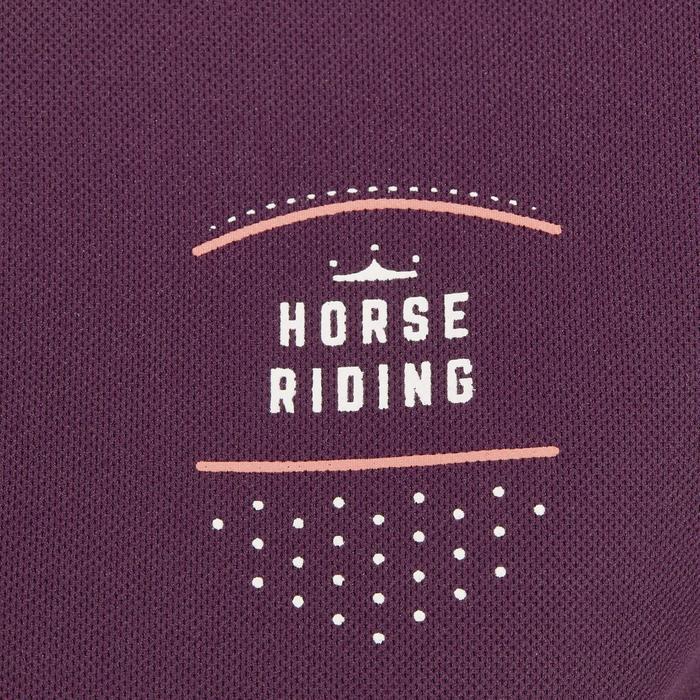Polo manches courtes équitation femme PL500 MESH bleu marine et - 1255175