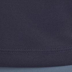 500 Mesh Women's Short-Sleeved Horseback Riding Polo Shirt - Navy/Grey