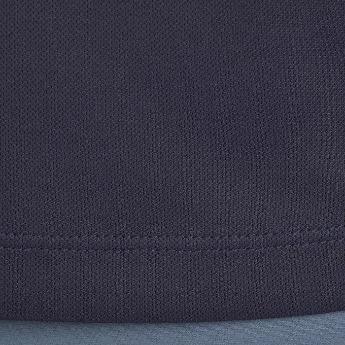 Polo manches courtes équitation femme PL500 MESH bleu marine et - 1255188