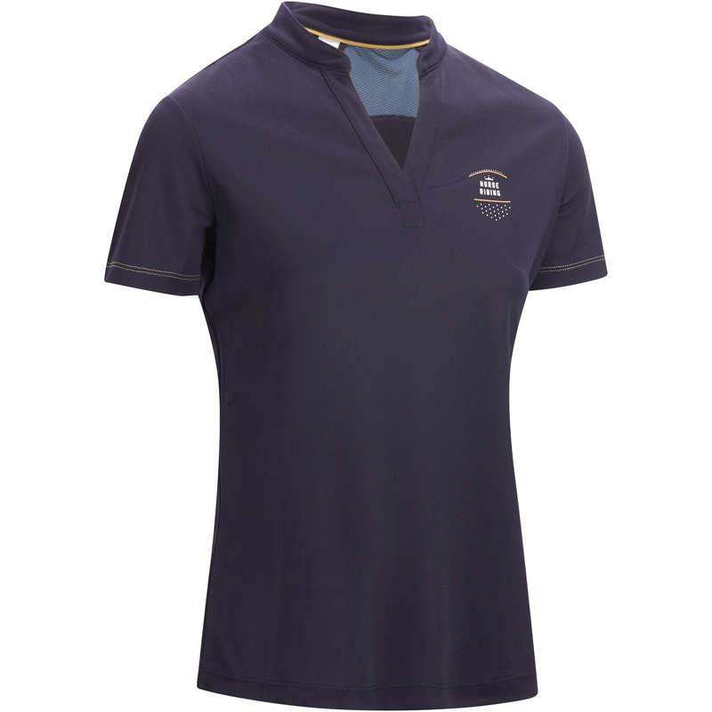 Îmbrăcăminte echitație vreme caldă Echitatie - Tricou Polo MESH Training Damă FOUGANZA - Echitatie