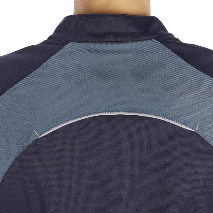 Polo manches courtes équitation femme PL500 MESH bleu marine et - 1255192
