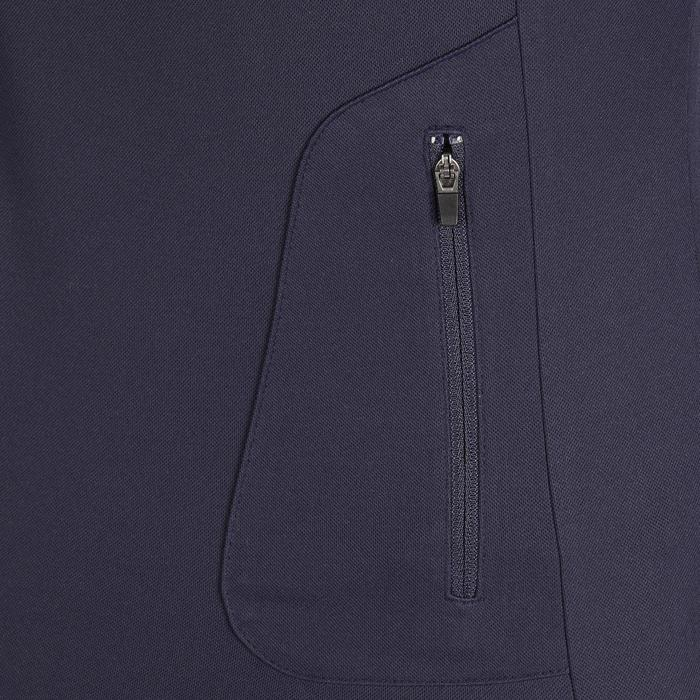 Polo manches courtes équitation femme PL500 MESH bleu marine et - 1255198