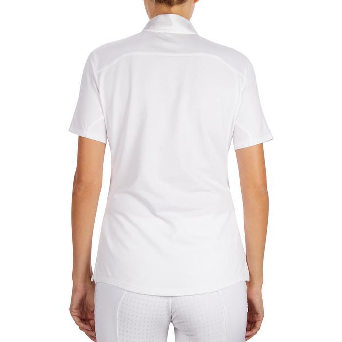 Polo manches courtes Concours équitation femme COMP500 blanc - 1255202