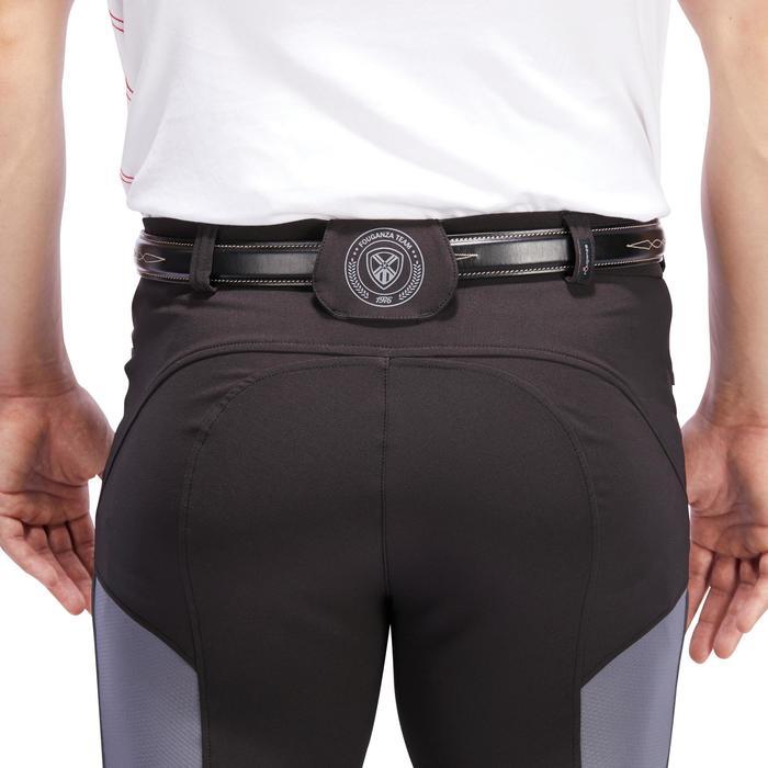 Reithose 500 Light Kniebesatz Herren schwarz/grau
