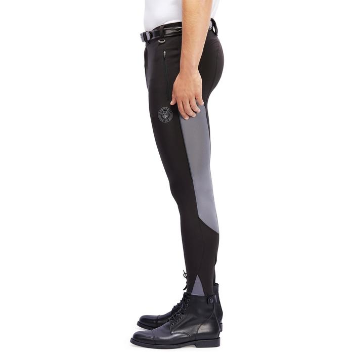 Pantalón equitación hombre 500 MESH negro y gris