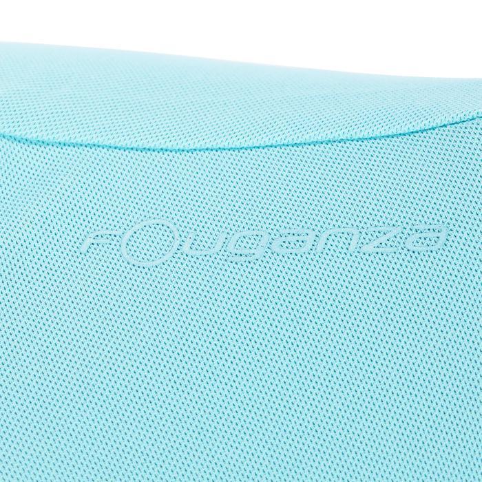 Reit-Poloshirt 500 Mesh Damen türkis/marineblau