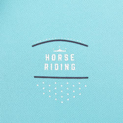 500 Mesh Women's Horse Riding Tank Top - Turquoise/Navy