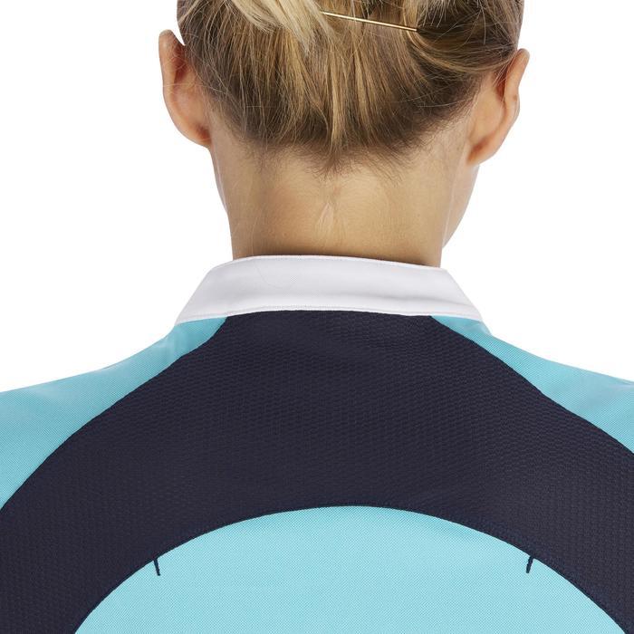 Débardeur équitation femme 500 MESH turquoise et marine