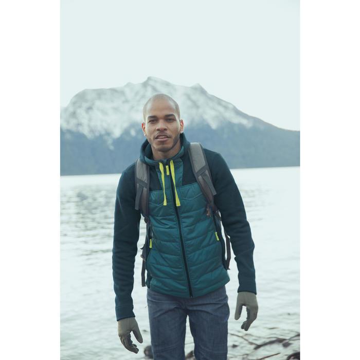Men's nature hike pullover Arpenaz Hybrid brown - 1255300