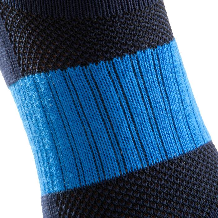 Medias de fútbol adulto F500 azul negro