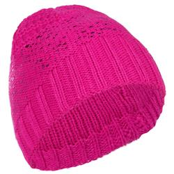 Metallic Children's Ski Hat - Pink