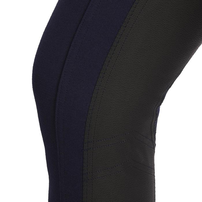 Pantalon équitation femme 140 STRIPE basanes agrippantes marine
