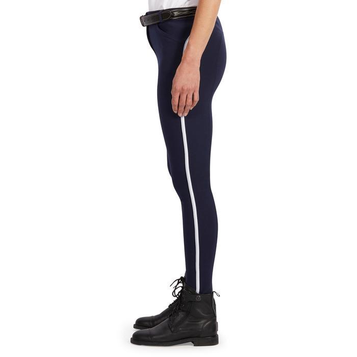 Reithose 140 Stripe Damen marineblau