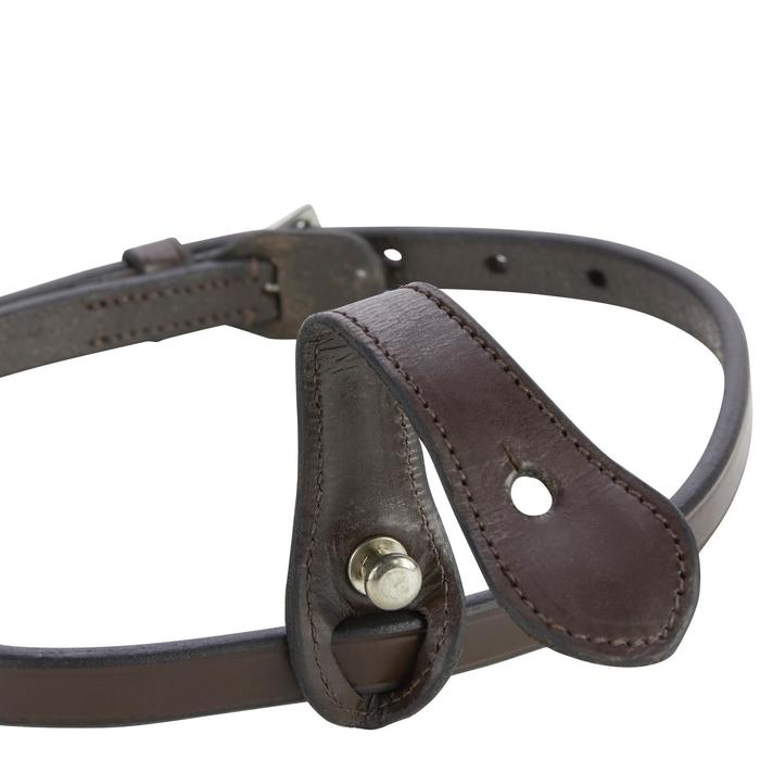 Noseband équitation 580 marron - taille cheval