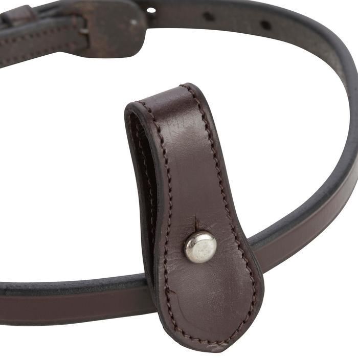 Nose band equitación 580 marrón - talla caballo
