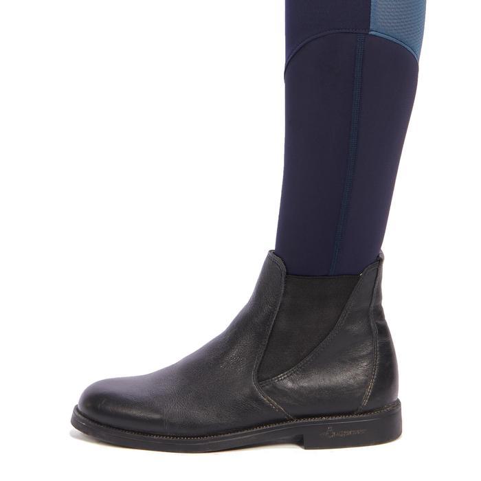 Reithose BR500 Mesh Damen Kniebesatz marineblau/grau