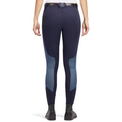 Pantalón Equitación Fouganza 500 Mesh Mujer Azul M/Gris Ligero Badana Adherente