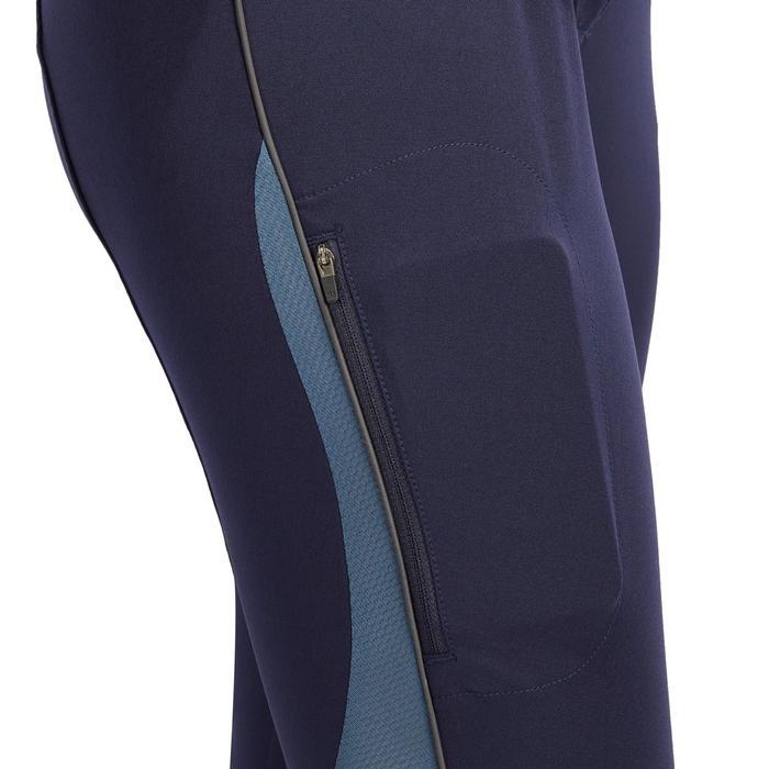 Pantalón de equitación para mujer BR500 MESH azul marino y gris