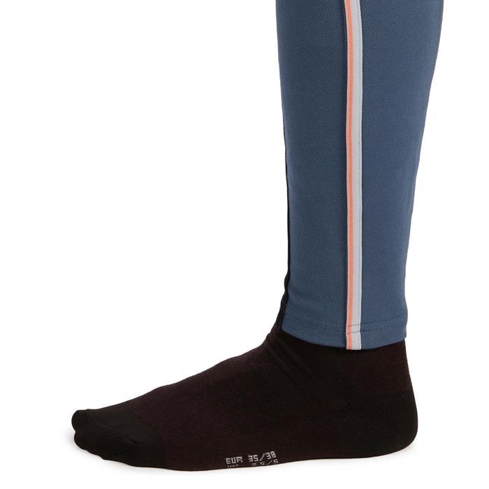 Rijbroek voor dames 140 Stripe met antislip inzetstukken blauwgrijs