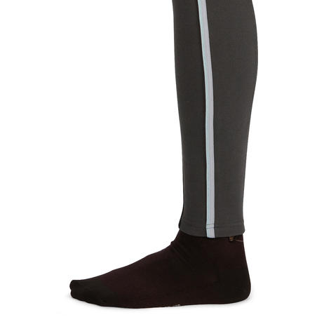 140 Stripe Women's Horseback Riding Patch Jodhpurs - Dark Grey