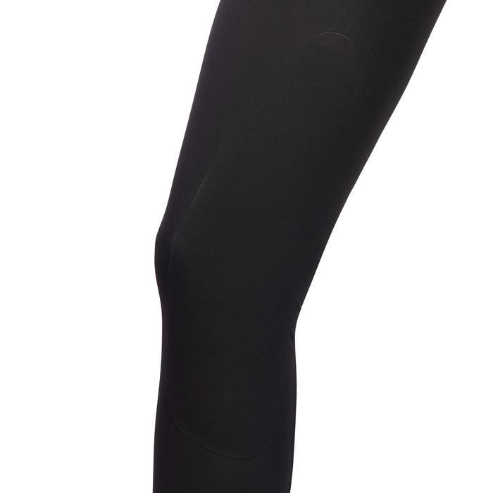 Pantalón ligero de equitación mujer 500 MESH negro y gris