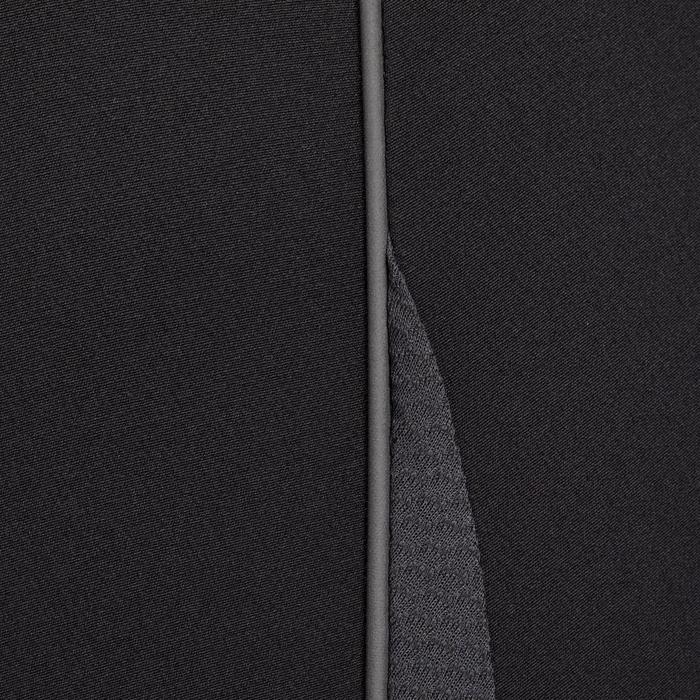 Reithose 500 Light Kniebesatz Damen schwarz/grau
