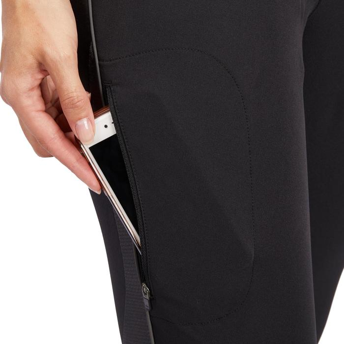 Pantalon léger d'équitation femme 500 MESH noir et gris