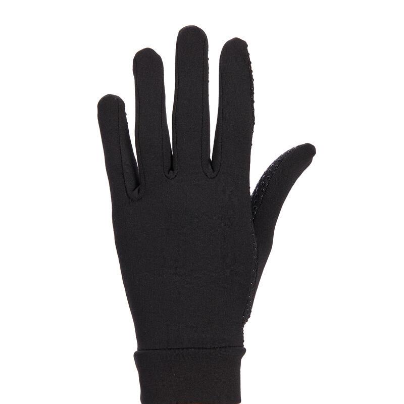 Gants d'équitation avec grip Femme - 140 noir