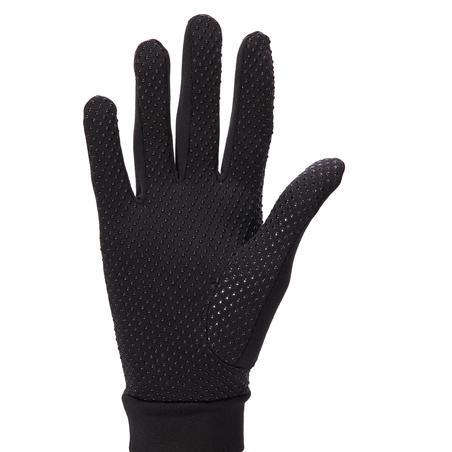 140 Women's Horse Riding Gloves - Black