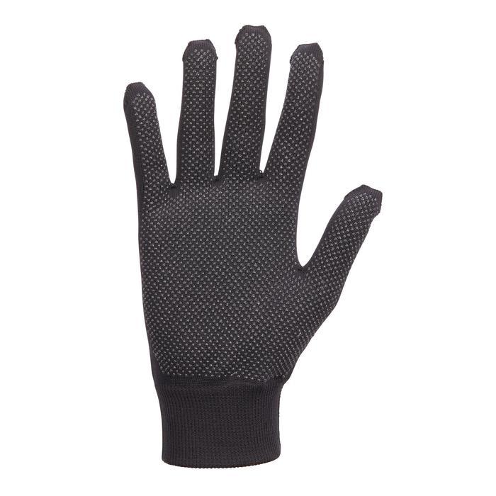 100 Women's Horse Riding Gloves - Black