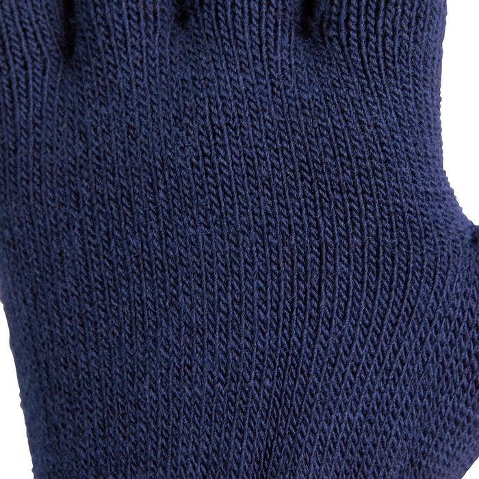 TRICOT rijhandschoenen voor kinderen zwart en framboosroze